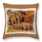 Jazi And Mom Throw Pillow