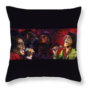 Jazz James Brown Throw Pillow