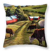 Jenne Farm In Reading Vermont Throw Pillow