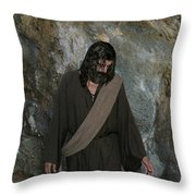 Jesus Christ- Rise And Walk With Me  Throw Pillow