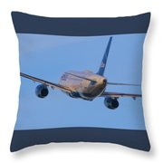 Jet Blue Throw Pillow