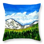 jGibney Breckenridge CO 1999art300dpi18-9M jGibney Throw Pillow
