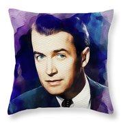 Jimmy Stewart, Vintage Movie Star Throw Pillow