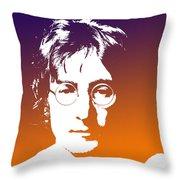 John Lennon The Legend Throw Pillow