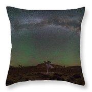 Joshua Tree Milky Way Panorama  Throw Pillow
