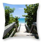 Juno Beach Florida Throw Pillow