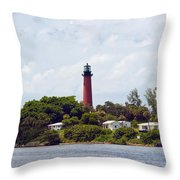 Jupiter Inlet Florida Throw Pillow