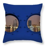 Kaohsiung City By Night Throw Pillow