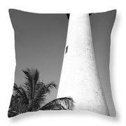 Key Biscayne Lighthouse Throw Pillow