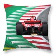 Kimi Raikkonen Austria 2018 Throw Pillow