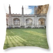 King's College Cambridge Throw Pillow
