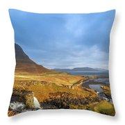Kirkjufell. Throw Pillow