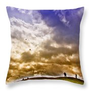 Kite Flying Throw Pillow by David Patterson