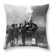 Korean War: Artillery Throw Pillow