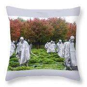 Korean War Throw Pillow