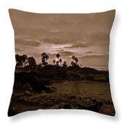 La Jolla Sunset Throw Pillow