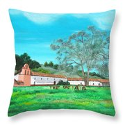 La Purisima Mission Throw Pillow