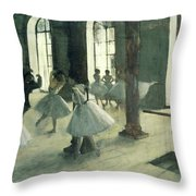 La Repetition Au Foyer De La Danse  Throw Pillow