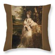 Lady Bampfylde Throw Pillow