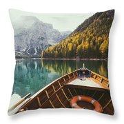 Lago Di Braies Throw Pillow