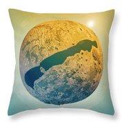 Lake Balaton 3d Little Planet 360-degree Sphere Panorama Throw Pillow