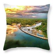 Lake Jordan Dam Throw Pillow