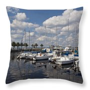 Lake Monroe At The Port Of Sanford Florida Throw Pillow