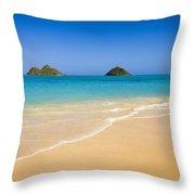 Lanikai, Mokulua Islands Throw Pillow