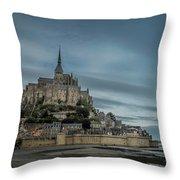 Le Mont Saint Michel Throw Pillow