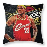 Lebron James Throw Pillow
