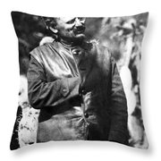 Leon Trotsky (1879-1940) Throw Pillow