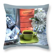 Letters From Home Throw Pillow
