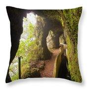 Levada Da Serra Do Faial, Madeira Throw Pillow