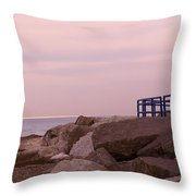Lexington Harbor At Sunset Throw Pillow