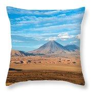 Licancabur Volcano View Throw Pillow