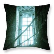 Light Through The Currituck Window - Text Throw Pillow