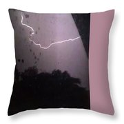 Wicked Lightning Throw Pillow