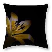 Lilium Flower Throw Pillow