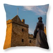 Linlithgow Palace Throw Pillow