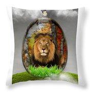 Lion Art Throw Pillow
