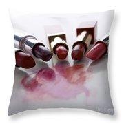 Lipsticks Throw Pillow by Bernard Jaubert