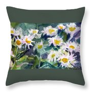 Little Asters Throw Pillow