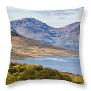 Loch Arklet And The Arrochar Alps Throw Pillow