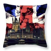 London Cityscape With Big Ben Throw Pillow