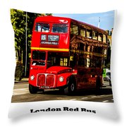 London Red Bus. Throw Pillow