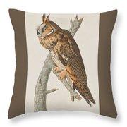 Long-eared Owl Throw Pillow