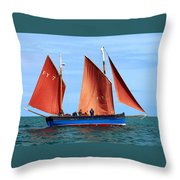 Looe Lugger 'our Daddy' Throw Pillow
