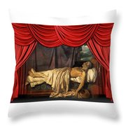 Lord Byron On His Death Throw Pillow