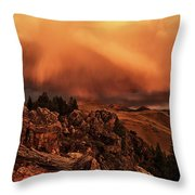 Lost River Sunset Throw Pillow
