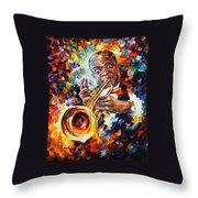 Louis Armstrong . Throw Pillow